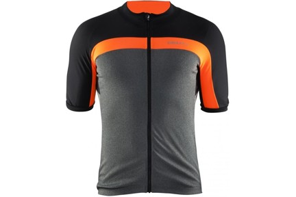 Pánský dres Craft 1903993 Velo jersey men Dk Grey Melange/orange 2975