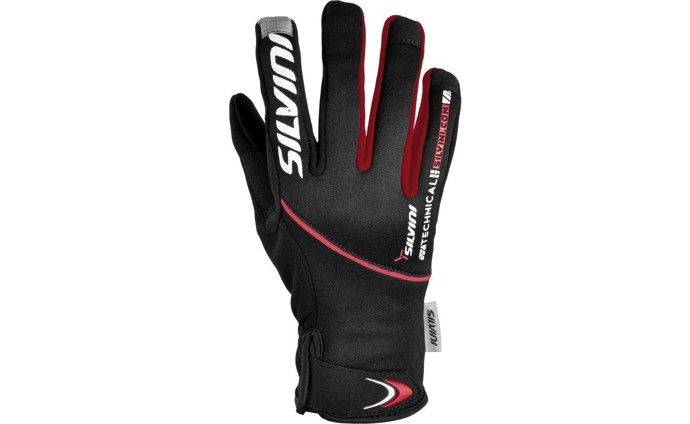 Rukavice Silvini Ortles MA722 Black/Red